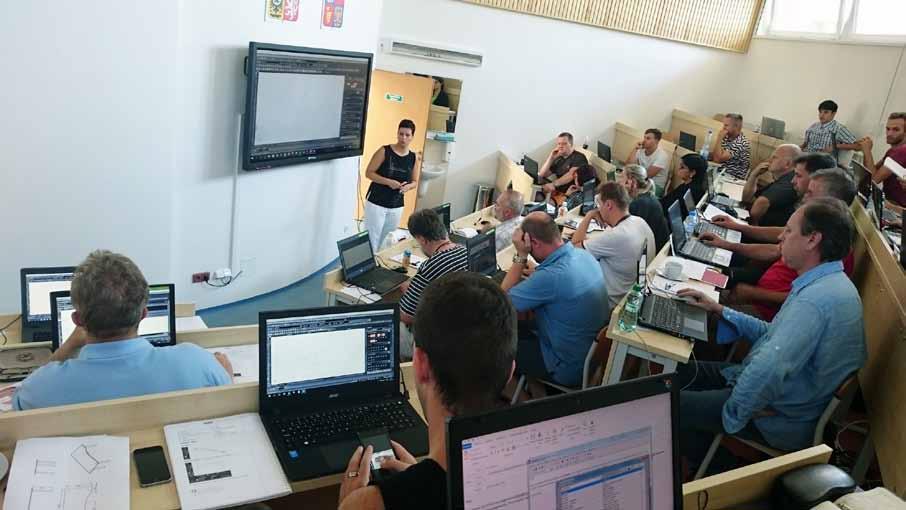 Doškolování novinek programu TurboCAD a DAEX v novém školícím centru Střední školy stavebních řemesel Brno-Bosonohy