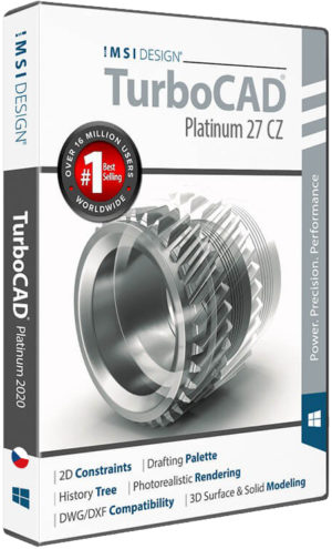 Upgrade na TurboCAD Platinum 2D/3D 27 CZ