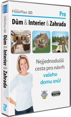 TurboFloorPlan 3D Dům & Interiér & Zahrada Pro CZ