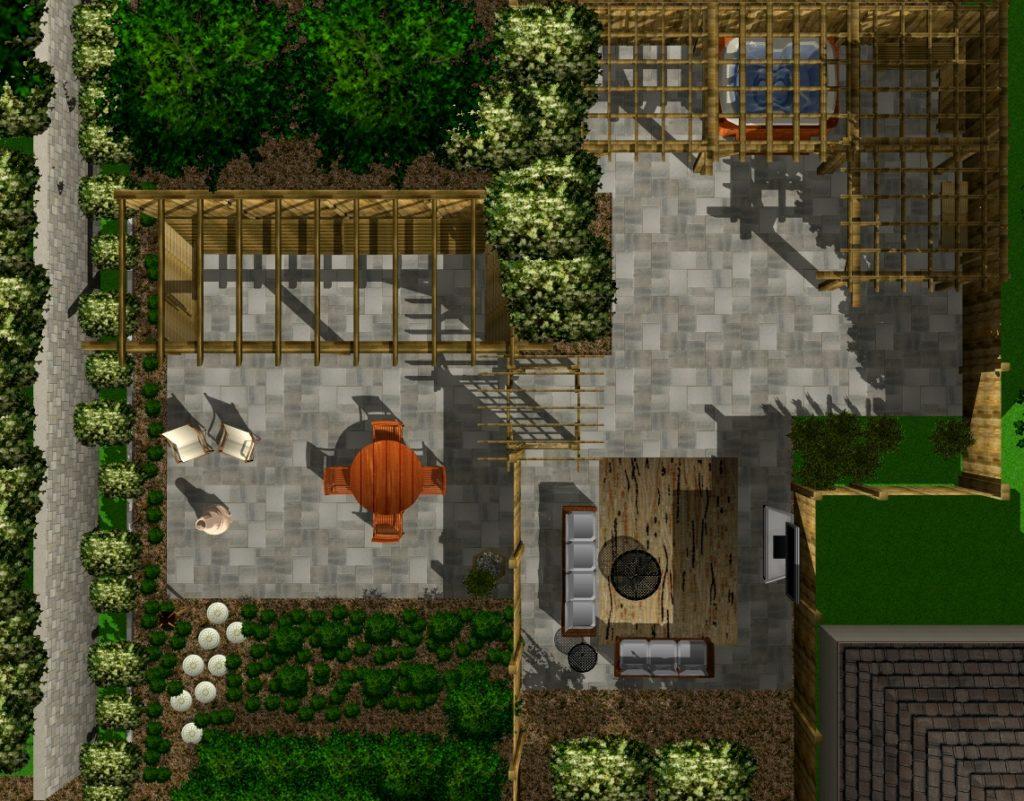 Blue17 Outdoor Living TopDown 1 1024x801 - TurboFloorPlan 3D Dům & Interiér & Zahrada Deluxe CZ