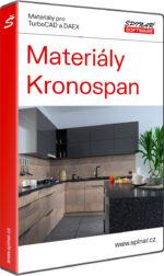 Materiály Kronospan pro TurboCAD/DAEX