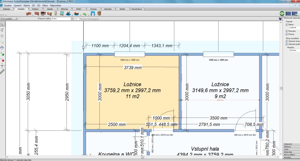 TFP 2 1 1024x550 - TurboFloorPlan 3D Dům & Interiér & Zahrada Pro CZ