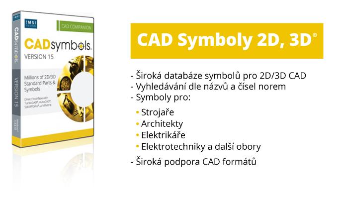 TurboCAD Cadsymbols symboly 2D 3D v15 - CAD Symbols 30 miliónů pro DWG, DXF, 3DS. TCW..