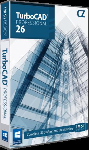 Upgrade na TurboCAD Pro 2D/3D 26 CZ