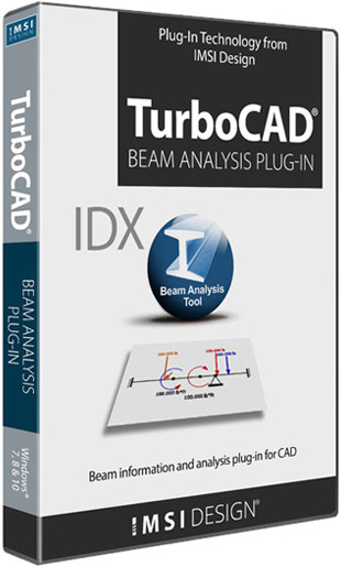 Turbocad Beam Analysis Plug in Technology - IDX BEAM Analysis - statika nosníků