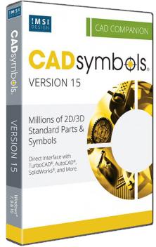 CAD Symbols 30 miliónů pro DWG, DXF, 3DS. TCW..