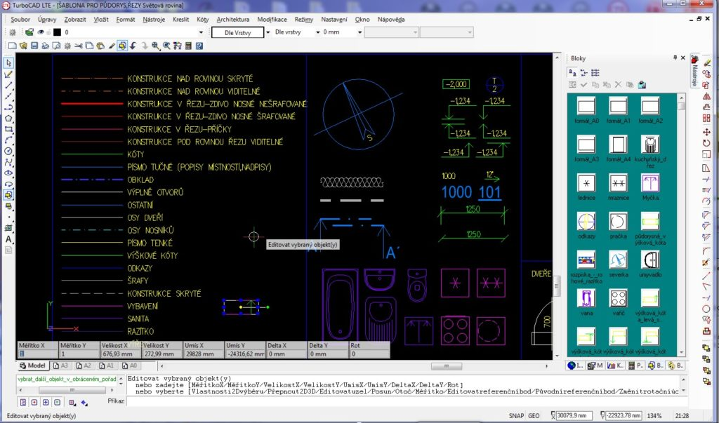 cary vyskove koty 021 1 1024x603 - TurboCAD LTE Pro 9 CZ