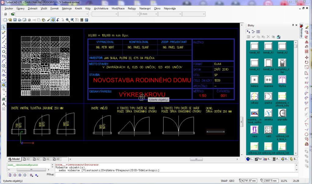 cary vyskove koty 023 2 1024x603 - TurboCAD LTE 9 CZ