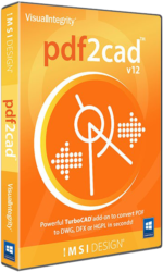 PDF2CAD 12 – převodník z PDF, AI do DWG, DXF