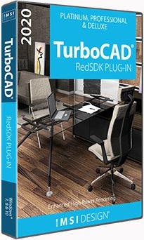 RedSDK Plug-in pro TurboCAD Platinum, Pro 2D/3D a Deluxe