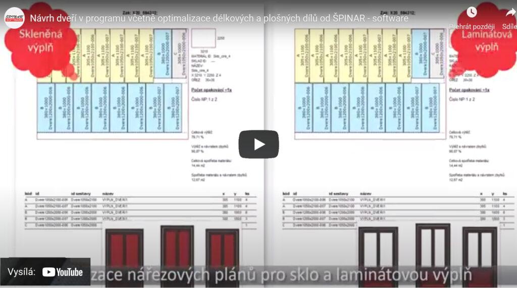 Dvere delkove prvky material optimalizace DAEX 1024x570 - DAEX CUT Délková Optimalizace