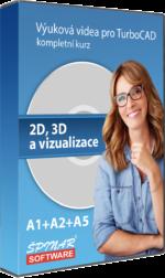 A1 + A2 + A5 – Výuková videa pro TurboCAD