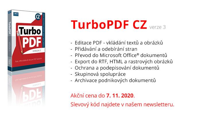 TurboPDF rozesilka banner 3n - TurboPDF CZ nyní za akční cenu jen do7.11.2020