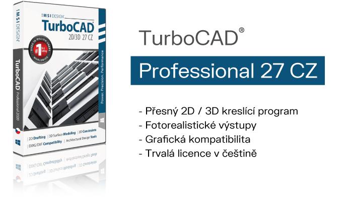 TurboCAD pro 2D 3D kresleni a vizualizaci SPINAR software - TurboCAD Pro 2D/ 3D 27 CZ v akční ceně do 27. 01. 2021