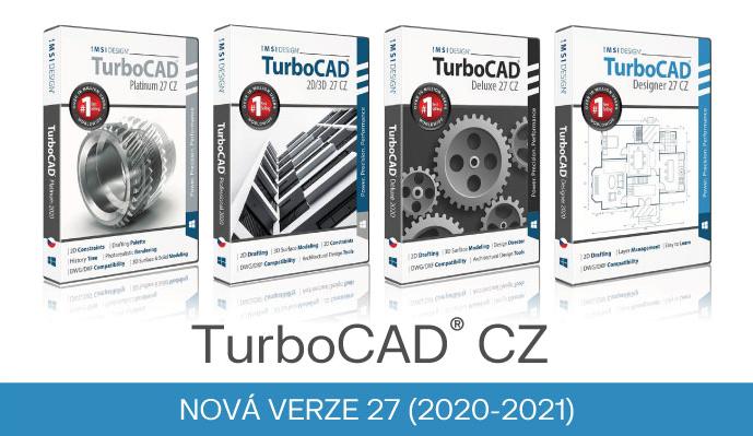 stavari architektura strojari nabytek truhlari stolari CAD TurboCAD Spinar software 2B - Nová verze TurboCAD 27 CZ pro rok 2020/2021 již v prodeji!