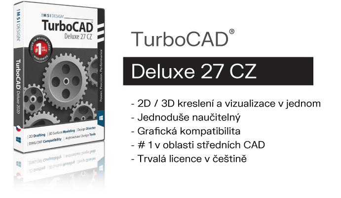 TurboCAD DELUXE 2D 3D vizualizace Spinar softare - TurboCAD Deluxe v akční ceně do 10. 02. 2021