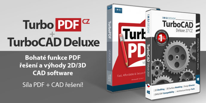 TurboPDF TurboCAD Deluxe PDF prevod do word excel CAD 2D 3D kresleni vizualizace - CAD & PDF = TurboCAD Deluxe + TurboPDF v akční ceně do 30. 9. 2021