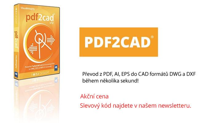 pdfCAD 2C - PDF2CAD převodník z PDF, AI, EPS do DWG a DXF v akční ceně