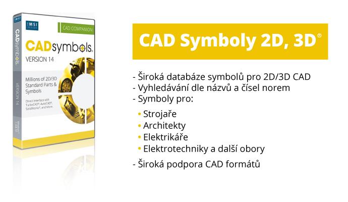 TurboCAD Cadsymbols symboly 2D 3D - CAD Symbols 30 miliónů pro DWG, DXF, 3DS. TCW..