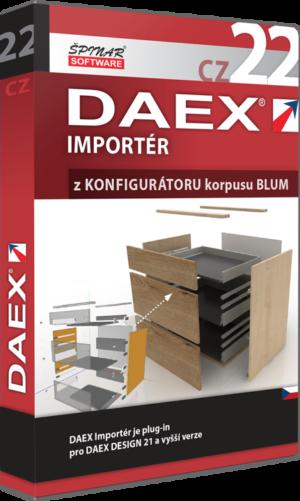 DAEX IMPORTÉR z Konfigurátoru korpusů od firmy BLUM