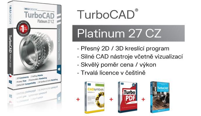 TurboCAD TurboPDF CAD Symboly SPINAR software2B - TurboCAD PLATINUM 27 CZ v akční ceně s bonusy do 05.05.2021