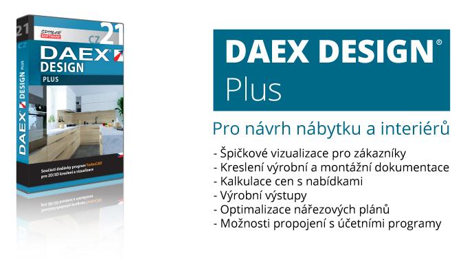 DAEX plus program pro navrh nabytku interieru optimalizaci narezovych planu SPINAR software - DAEX DESIGN Plus v akční ceně