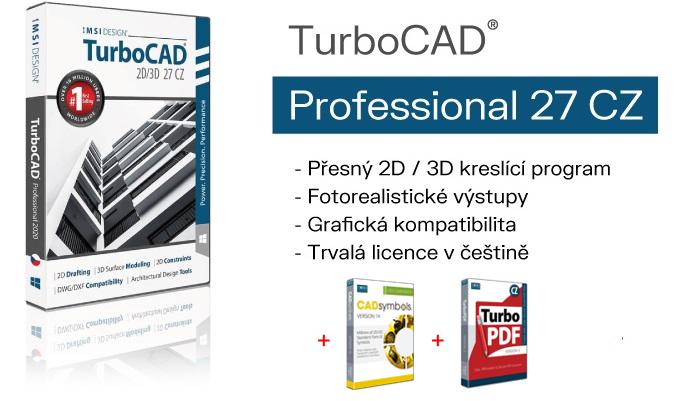 TurboCAD pro 2D 3D kresleni a vizualizaci SPINAR software.2B - TurboCAD Pro 2D / 3D 27 CZ v akční ceně s bonusy do 12.05.2021