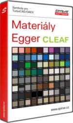 Materiály Egger CLEAF pro TurboCAD/DAEX DESIGN