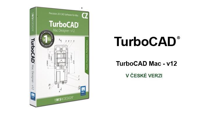 TurboCAD Designer spinar software roz1 - TurboCAD MAC Designer 2D 12 CZ